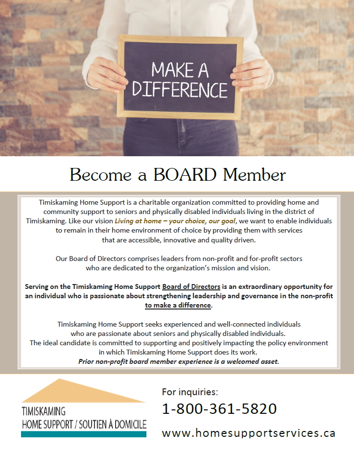 "Make a Difference ""Become  a BOARD Member"""